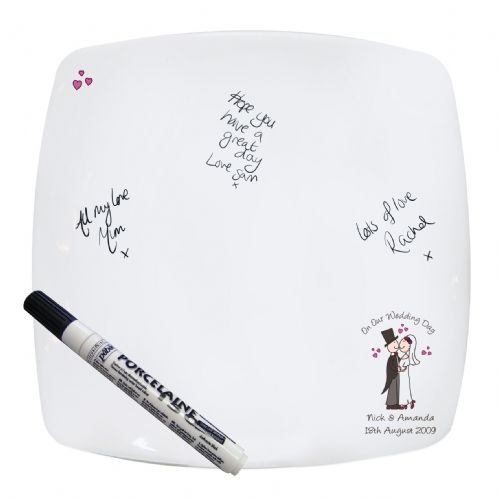 Personalised Cartoon Square Message Plate